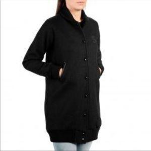 SHINOLA X Golden Bear Black Wool Bomber Jacket